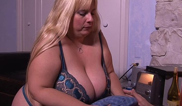 Fat Wife Sexually Pleasuring Her Husband After Work