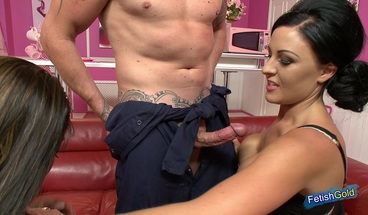Intense threesome with lucky plumber and two horny MILFs