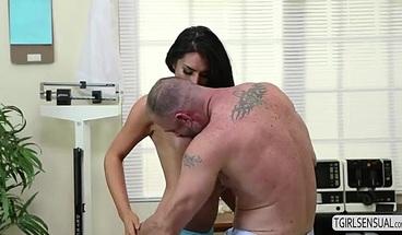 Tgirl Chanel Santini gives girl a hot anal fuck