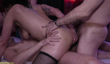 german milf loves extreme anal group orgy