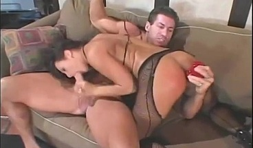 Gorgeous Euro-trash Sandra Romain loves cock in the ass
