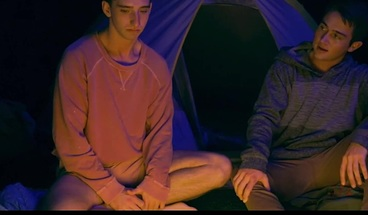 Two Twink Step Brothers Fuck While Camping On Halloween Night