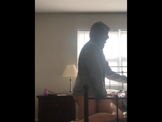 Sexy blonde dirty talks while getting fucked. Enjoy the ending