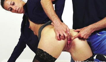 Hot MILF Ali Bordeaux gets her pussy gaped and fucked