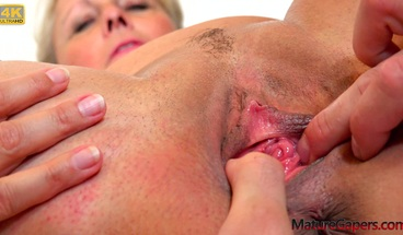 Horny granny gets her pussy gaped and fucked hard in 4K