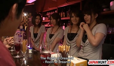 Japanese Anal Orgy With Bargirls