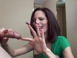 long nail hand job
