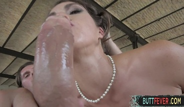 Cumsprayed european newbie gets fucked in her tight ass