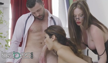 BABES - Office Obsession - Penelope Cum Max Deeds Holly Kiss