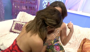 Two Busty Teen Used Dildo and Enjoy Lesbian Sex in the Hotel