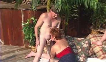 Outdoor Interracial Orgy at Granny's House