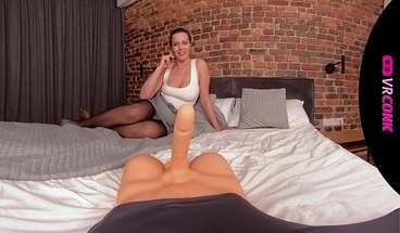 VRConk Sexy curvy blonde fucking with sex toy VR Porn