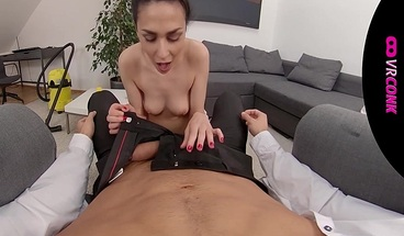 VRConk Skinny maid in stockings gets banged VR Porn