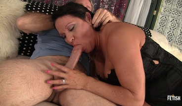 Busty tattooed MILF gets her pussy drilled by older dude