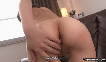Japanese girl, Tomoka Sakurai masturbates, uncensored