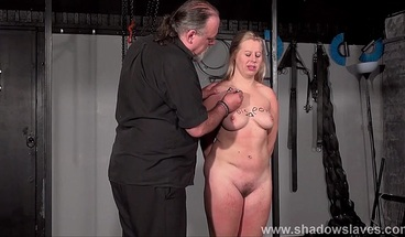 Brutal tit whipping to tears and pussy punishment humiliation