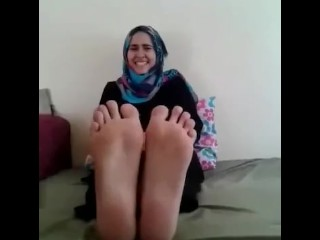 Lesbian Arabic Hijab Woman Love Punished Falaka Feet