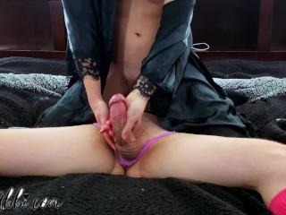 Orgasm Control & Endless Edging in Purple Panties! 4K video! - Miss Abbi