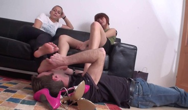 foot slaves have to lick feet of dominant ladies