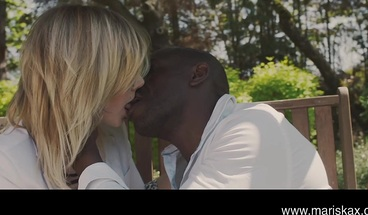 MARISKAX Hot blonde Tina treated to a BBC outdoors