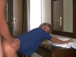 Hot MILF cumming hard on the table