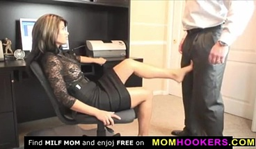 Sexy milf secretary with her director in the office