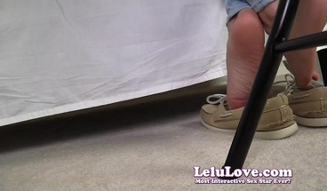 POV dangling dipping shoe play with POV feet tickling - Lelu