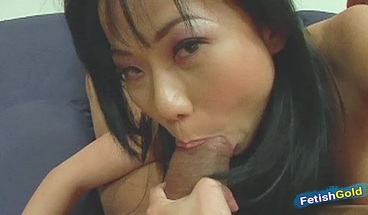 Asian brunette gets her tight pussy drilled by big black cock