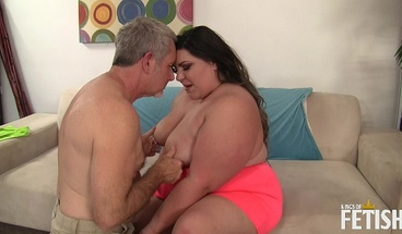 Horny BBW gets her wet pussy rough banged by older man