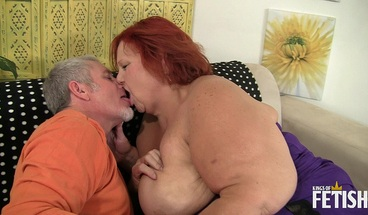 Redhead BBW gets her fat pussy fucked by horny man