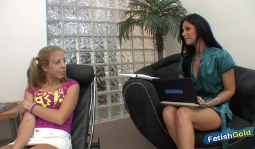 Lesbian MILF psychologist seduces schoolgirl to have hot fun