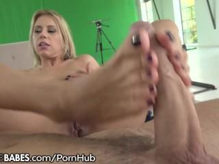 FootsieBabes Let My Feet Stroke Your Big Cock