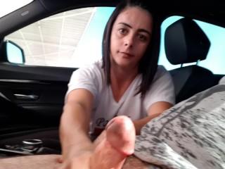 Julia car handjob 2
