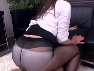 japanese pornstar pantyhose footjob and sex 2