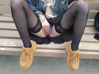 schoolgirl public masturbation