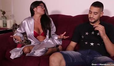 Latina Step Mom Isabella Jacks off Her Monster Cocked Step Son