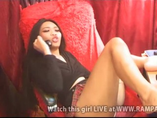 Liveshow Asian Babe Daisy 2020.05.21 Part Pussy Slips (Showing Pink!)