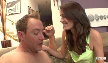 Horny babe rough fucked by her step brother on the couch