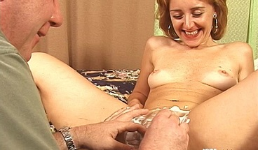 Blonde woman gets fucked by older man after shaving her pussy