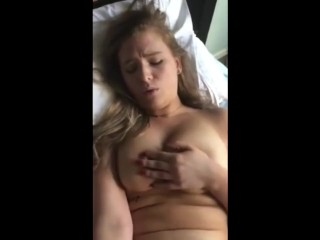 Teen w Big Boobs can't stop cumming while fucked