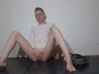 Petite Hot Blonde Squirts And Pees All Over While Masturbating - Constance Robinson