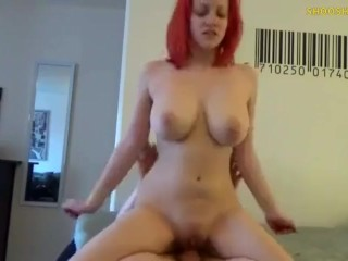 BUSTY REDHEAD CANT STOP CUMMING