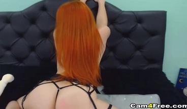 Hot Ass Redhead Beauty Fingering Juicy Hole