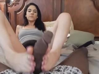 BBC Footjob With My Sexy Latina Feet