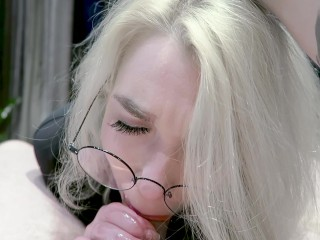 Valentine's Day Glasses Catwoman Gagging And Cum In Thtoat