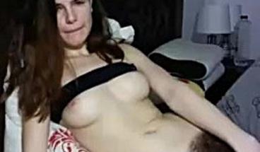 Brunette Hairy Teen Masturbating Webcam LIVE Homemade