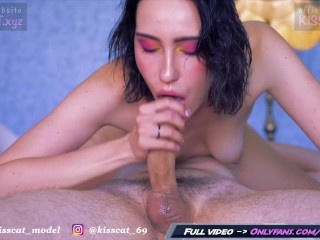 I will Lick and Suck your Dick until you Cum in Mouth - Sensual Blowjob / Kiss Cat