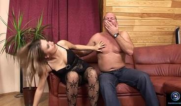 PornStreamLive presents - Petra is ravaged by Attila the Hun