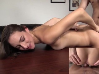 Fine Fit Coed Andi Sucks And Fucks Her Way To A Warm Sticky Cum Creampie!