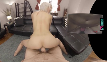 VRHUSH Zoe Sparx has her ass filled up with cum